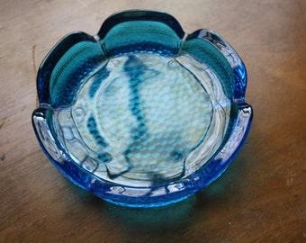 Set of 3 Viking Blue Pebble Glass Dishes