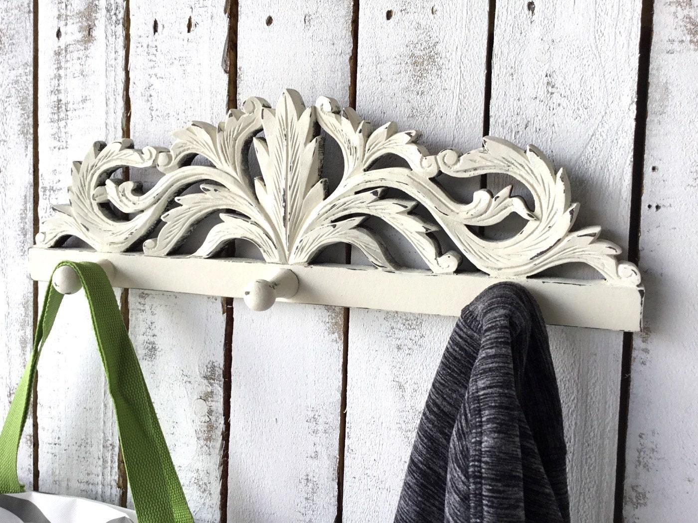 Coat Rack Shabby Chic Wall Rack Decorative Hooks