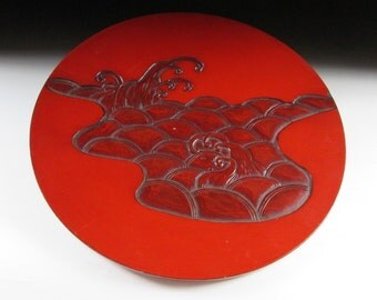 Kamakura-bori Lacquerware Plate, Koedo