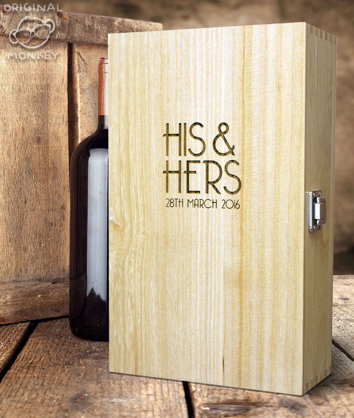 Personalised Wedding Gifts Wine : Wedding Gift Personalised Wine Box Gifts for Couples Champagne