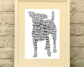 Jack Russell Dog Personalised Print