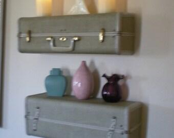 Suitcase Wall Shelves Art Deco Samsonite Handmade Suitcase Shelves Hidden Storage