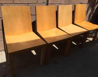Modern Minimalist Solid Wood Side Chair