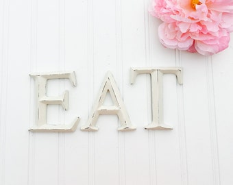 Mini EAT Letters - Kitchen Decor - EAT Sign - Small Letters