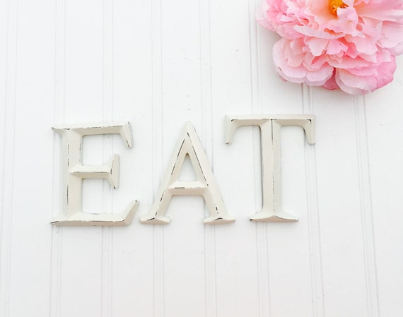 Mini eat letters kitchen decor eat sign small letters for Kitchen letters decoration