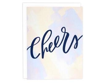 Cheers Card, Congrats Card, Watercolor Card, Wedding Card, Graduation Card, Birthday Card, Cheers, You Did It Card, Congratulations Card