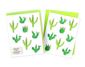 Cactus Blank Card, Cactus Card, Cactus Watercolor Cards, Blank Card Set, Boxed Card Set, Thank You Cards, Watercolor Cards, Box of Cards