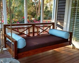 The Georgia Geometric Hanging Bed Swing Bed