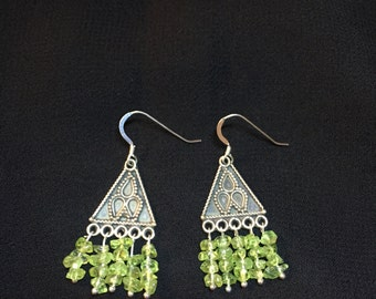Peridot and Sterling Silver. Made in Vermont.