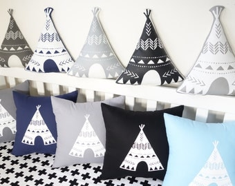 Teepee shaped cushions - Dark colours