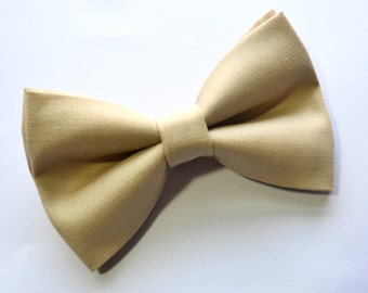 Beige/Khaki Bow Tie For baby/Toddler/Teen/Adult/with Adjust strap/Clip on