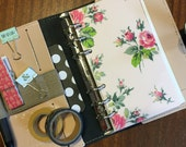 Pink Floral - Personal Size Planner Dashboard - for Kikki-K Medium, Filofax Personal, Color Crush