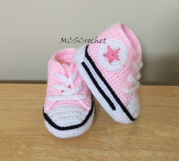 Baby Converse handmade baby shoes all stars baby booties