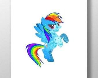 Rainbow Pony Print
