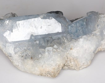 Beautiful Clear Blue Celestite Crystal Cluster