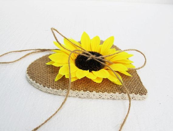 Matrimonio Fiori Girasole : Cuscino per fedi matrimonio pizzo girasole fiori anelli