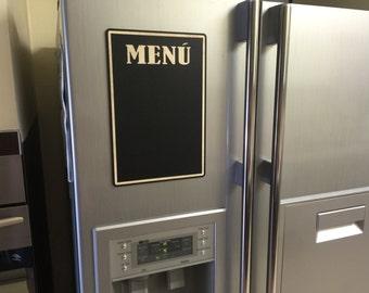 Kitchen chalkboard, magnetic message board, wood magnet memo board, wood blackboard fridge magnet, new home housewarming gift, hostess gift
