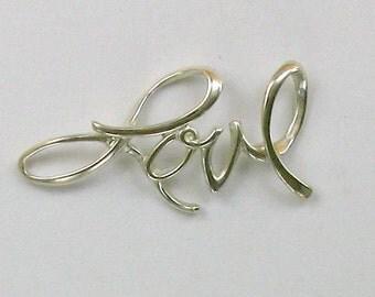 Sterling Silver Love Slide Pendant