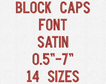 BLOCK CAPITAL Font 14 Sizes Embroidery Design