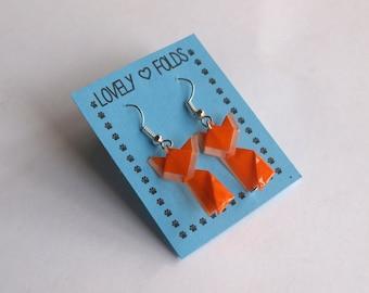 Dangle origami fox earrings
