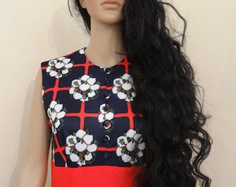 """Vintage 1950's 'Leslie Fay' Dress MADE IN USA - Lovely!! Chest 36"""" Length 56"""""""