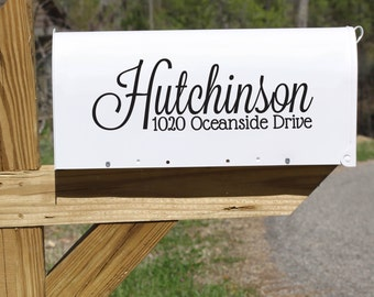 Personalized Name and Address Mailbox decal II