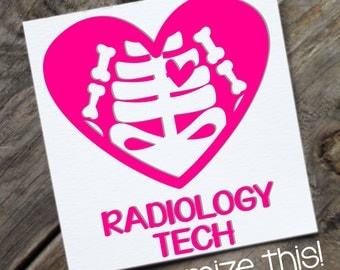 Radiology Tech Heart Decal