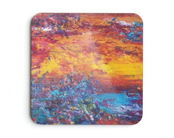 Fire Fall Down Drink Coaster