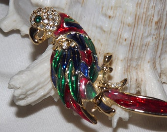 Parrot Pin Brooch