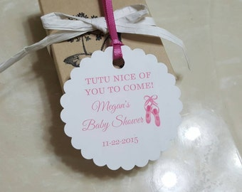 Personalized Favor Tags 2 1/2'', Baby Girl Shower  tags, Thank You tags, Favor tags, Gift tags, Rustic Tag