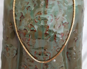 "Luxurious 18K Hand-woven Turkish-style 20"" Chain w/lobster claw -EB458"