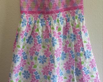 Adorable Pink Flowery Summer Dress