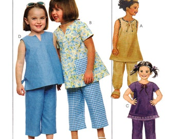 McCalls Sewing Pattern 3256 Girl's Top in two lengths, Pull-on Pants in two lengths  Size:  CF  4-5-6  Uncut