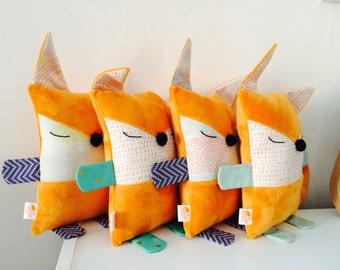 Choose the color of your Fox! Plush soft child, Fox made hand, commissioned. Fox kid plush, on order.