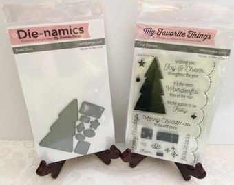 Lot Set My Favorite Things Die Namics Die+Stamps ~ Trim The Tree, MFT788+LJD54