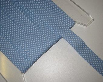Cotton bias binding B = 20 mm light blue/white dotted