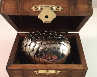 Dragon Egg with Box - Dragon Egg Decoration - Dragon Egg with Chest - Dragon Egg Decor - GoT Dragon Egg- YOU PICK Color - MEDIUM