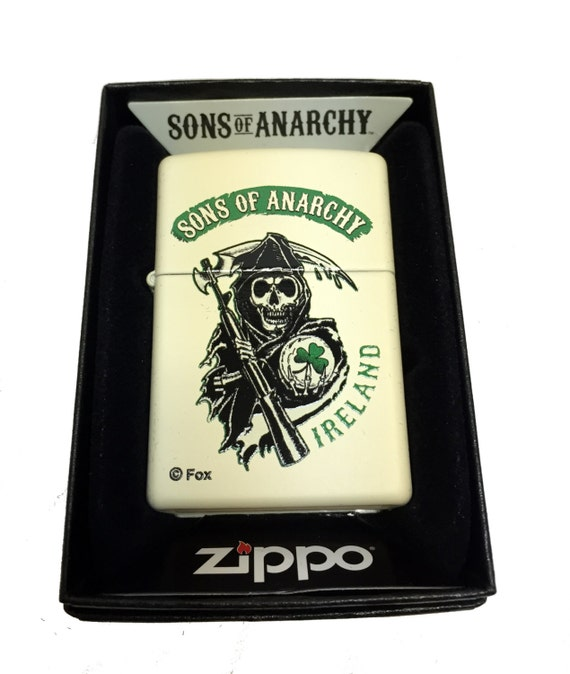 Zippo Custom Lighter Sons of Anarchy Ireland Grim Reaper