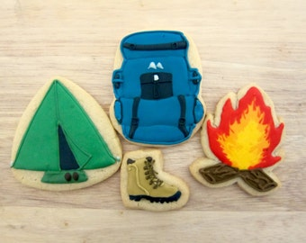 Outdoors Camper Backpacker Cookie Set - One Dozen