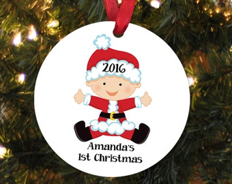 Baby's First Christmas Ornament - Personalized Christmas Ornament - Baby Christmas Ornament - New Baby Gift Baby Christmas Gift