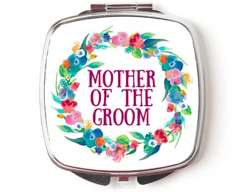 Mother of the Groom Compact Mirror - Mother of Groom Gift - Wedding Party Accessories Compact Makeup Mirror