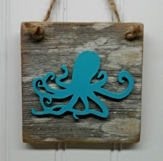 Beach Octopus Sign
