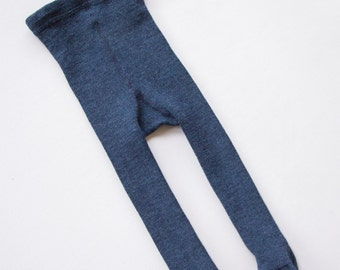 Navy Merino wool Baby tights/merino wool pantyhose/IR-26-28