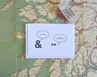 Punck Puns Card: Ampersand and Umlaut, Grammar Punctuation Humour