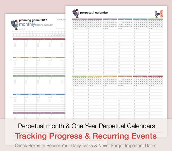 Planning Game 2017 Mind Map Style Format Calendar: Year