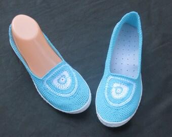 Handmade Shoes,  Crochet Women's Shoes, Light,  Eco friendly shoes