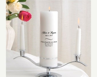 Personalized Wedding Unity Candle Set - Song of Songs_330