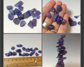 Tanzanite 17 beads- 11 to 17mm long
