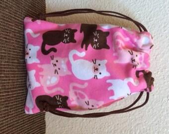 Cat Print Pink Bag