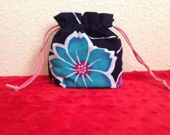 Japanese Blue Flower Small bag